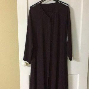 Abaya dress burgundy for sale